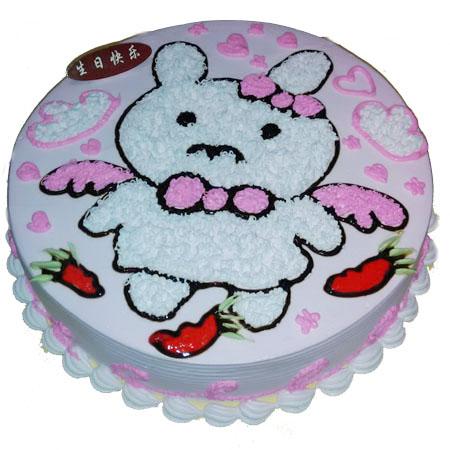属兔生肖蛋糕 卡通小兔子生日蛋糕-卡通蛋糕