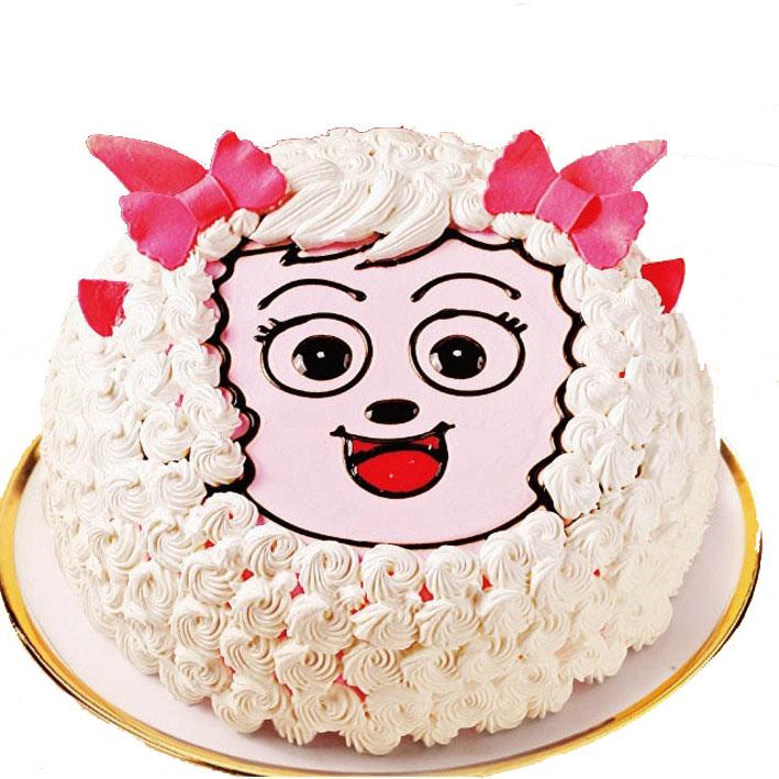 美羊羊生日蛋糕-卡通蛋糕